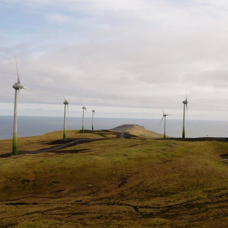 Elorkuframleiðslan 40% grøn fyrra hálvár 2021